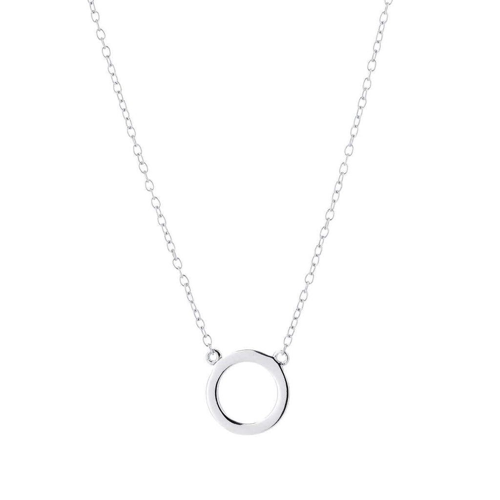Open Circle Necklace Silver 1 - Jewellery Shops Online - Bowerbird Jewels