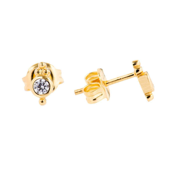 Shiva Granule Stud Earrings 2 - Jewellery Shops Online - Bowerbird Jewels