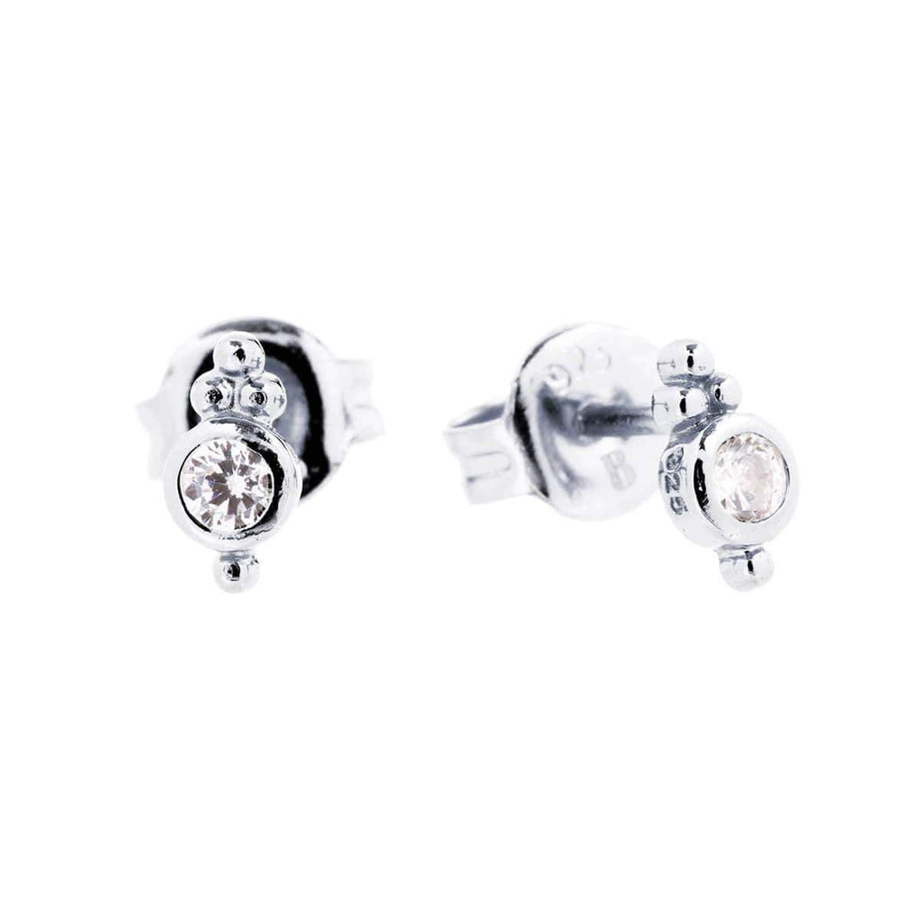 Shiva Granule Stud Earrings 3- Jewellery Shops Online - Bowerbird Jewels