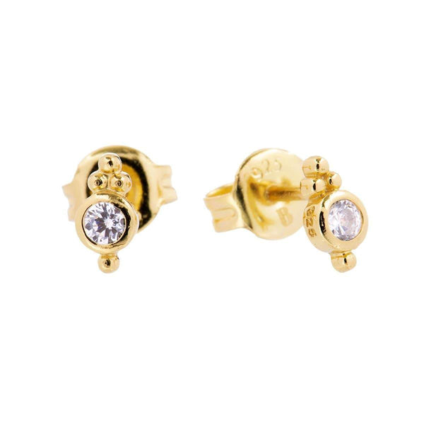 Shiva Granule Stud Earrings 1 - Jewellery Shops Online - Bowerbird Jewels