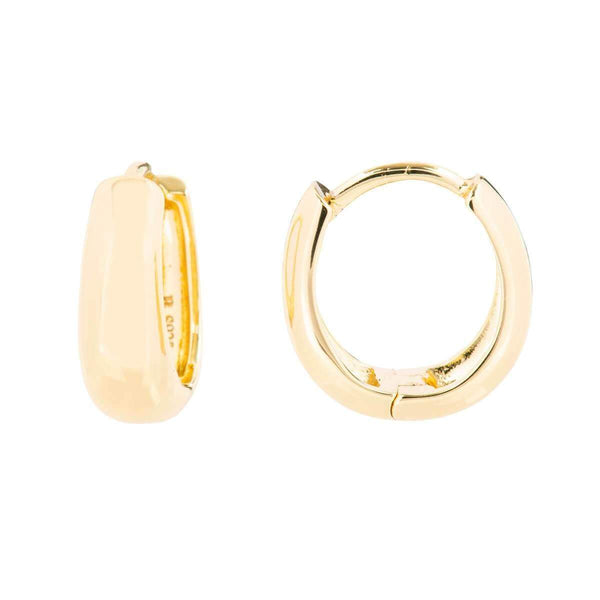 Small Tapering Huggie Earrings 2 - Jewellery Shops Online - Bowerbird Jewels