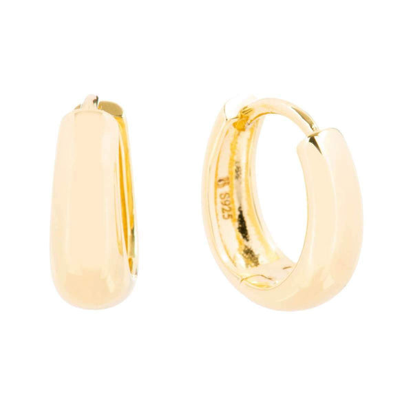 Small Tapering Huggie Earrings 1 - Jewellery Shops Online - Bowerbird Jewels