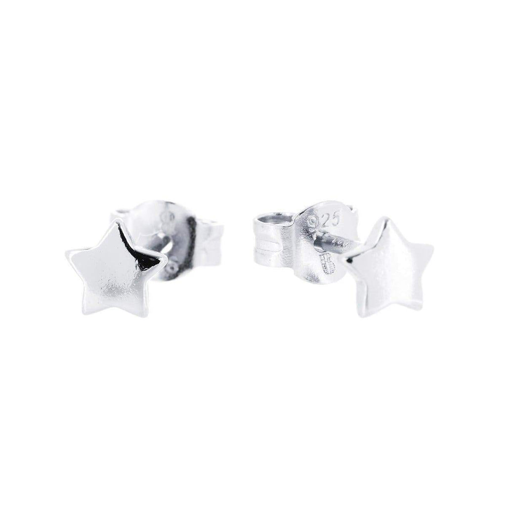 Star Stud Earrings Silver 1 - Jewellery Shops Online - Bowerbird Jewels
