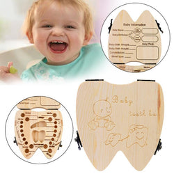 Baby Tooth Organizer/Box for  Save Milk teeth/Wooden storage box for kids Deciduous Souvenir Box