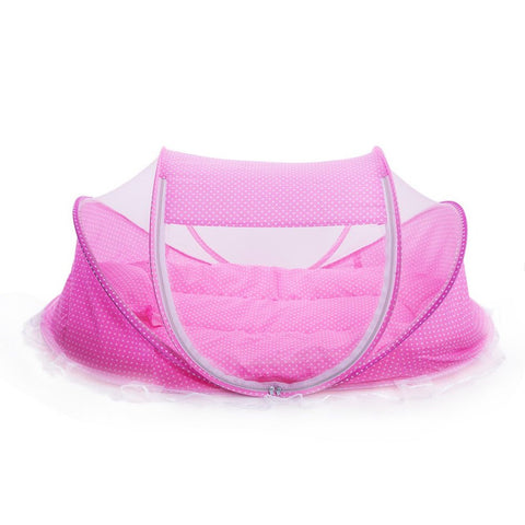 Portable Foldable Baby Mosquito Bed Crib Mattress Pillow and Tent