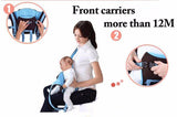 Baby Carrier Backpack Adjustable 4 Positions Pouch Bag Wrap Soft Structured Ergonomic Design for Newborn Baby Infant Toddlers --Khaki