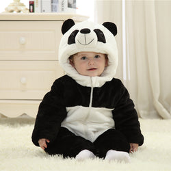 Cute Panda  Long Sleeve  Baby Romper