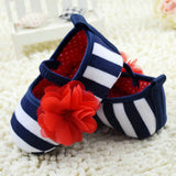 Baby Striped Rose Shoes - FREE OFFER- ***Limited to 3 Items per order**