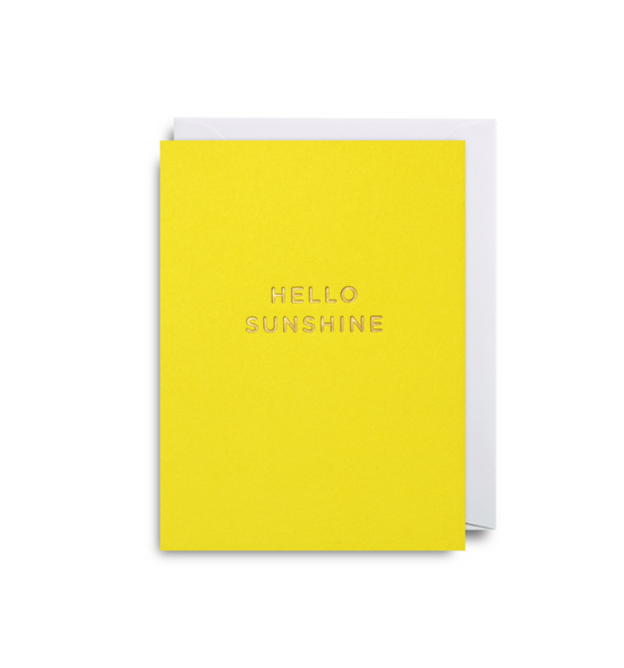 Hello Sunshine Mini Card