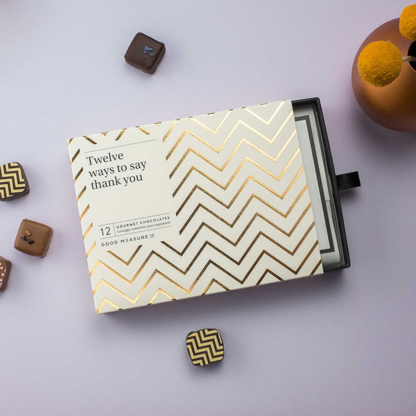 Twelve ways to say thank you <br> 12 Chocolate Truffles