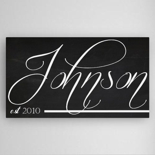 Personalized Modern Family Canvas