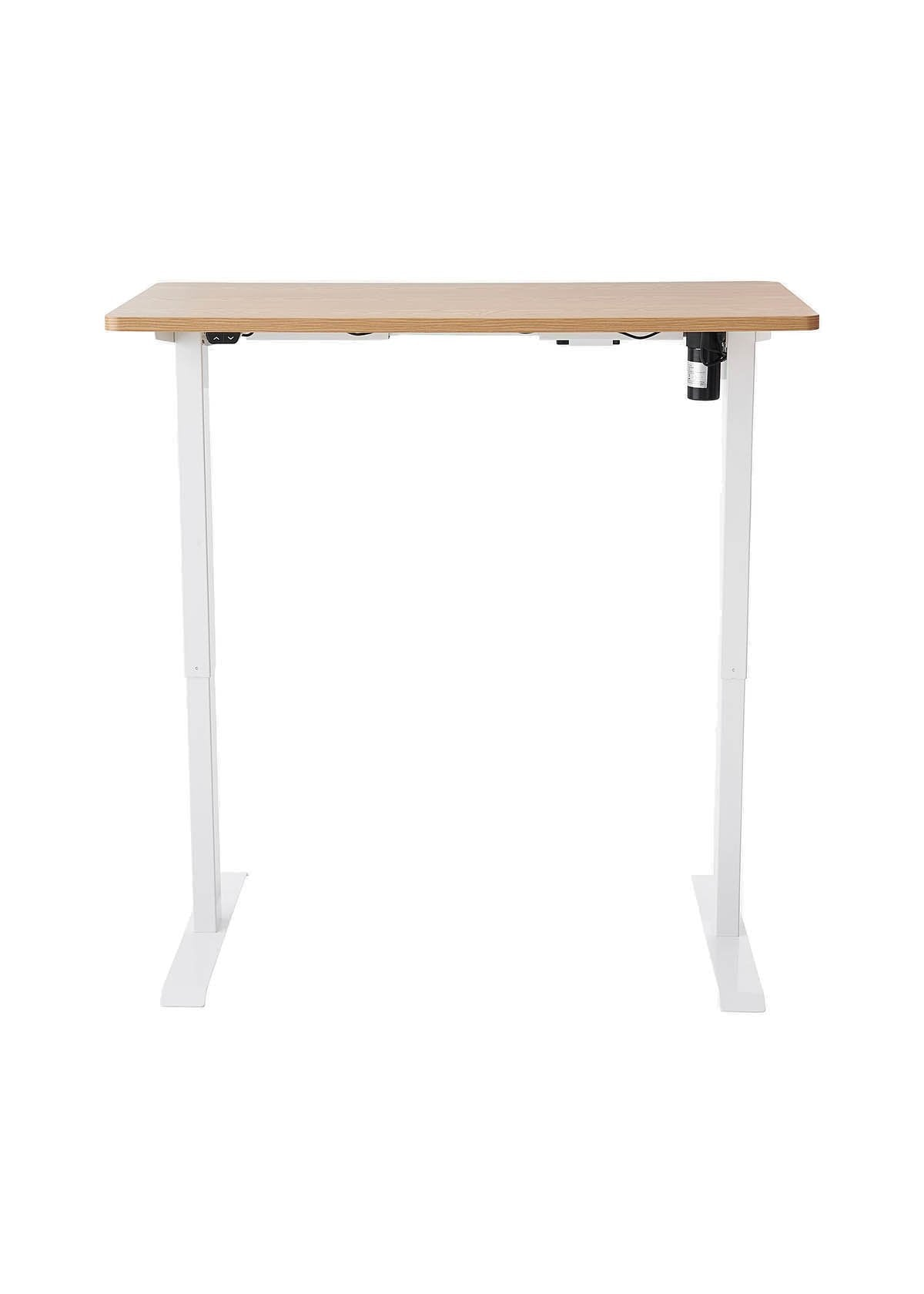 Dart NE01 Sit-Stand Electric Height Adjustable Desk in Ash & White