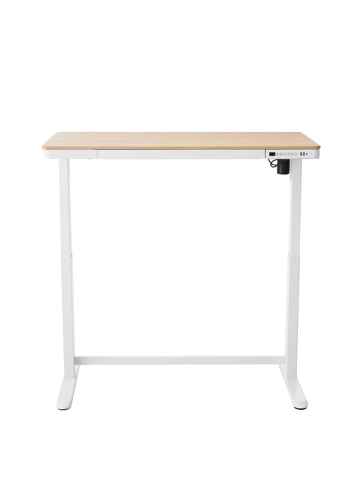 Dart NE02 Sit-Stand Electric Height Adjustable Desk Ash & White