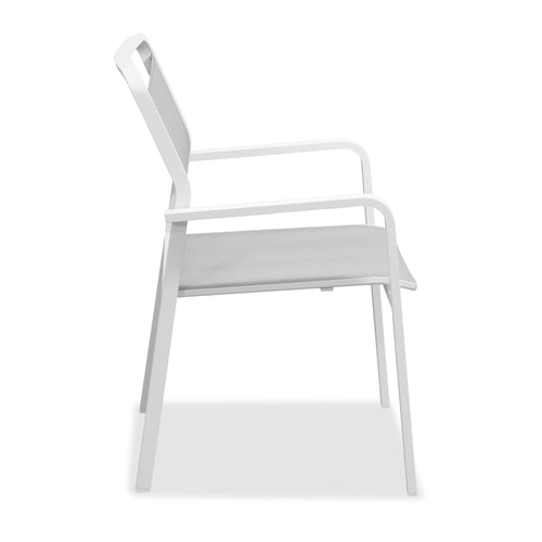 Eleve Outdoor Rounded Dining Armchair - Home-Buy Interiors