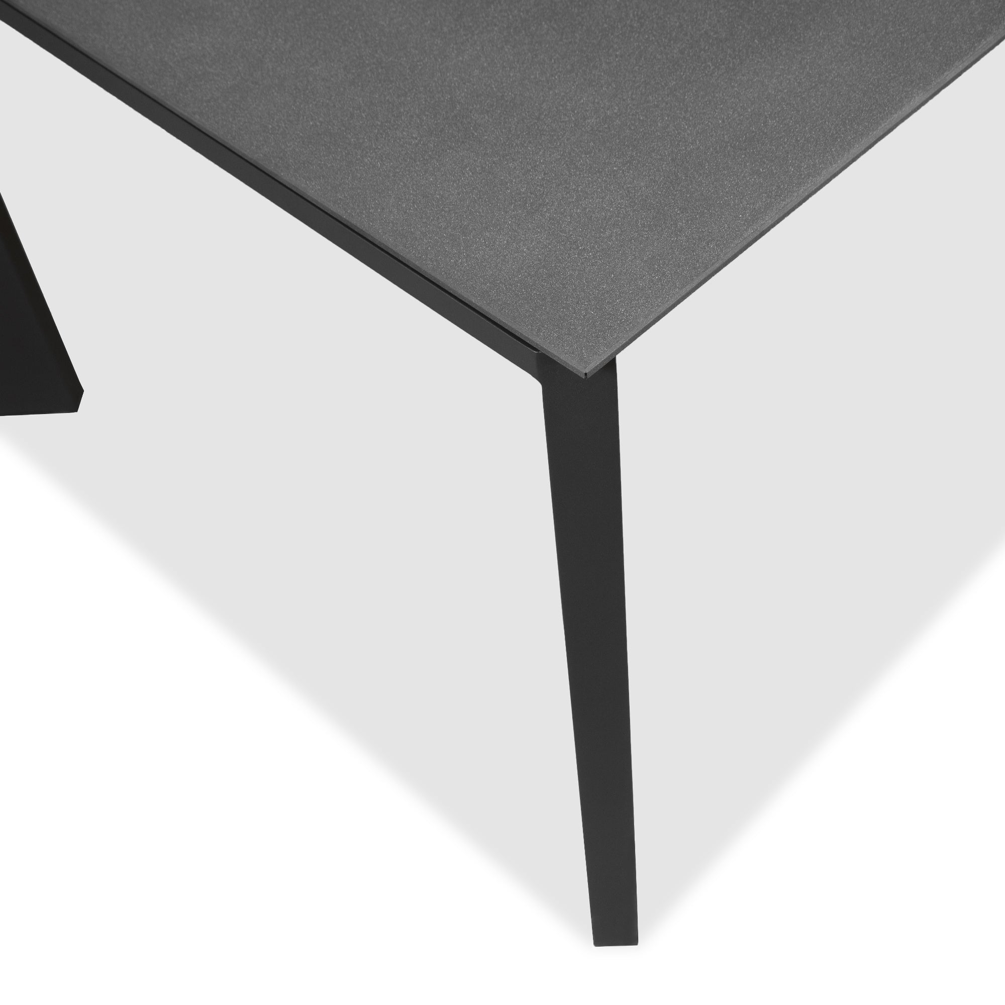 Evette Dining Table - 220cm Anthracite Stone Top