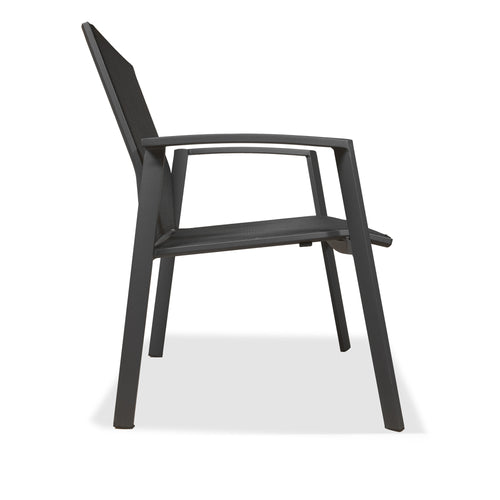 Evette Outdoor Accent Chair in Anthracite