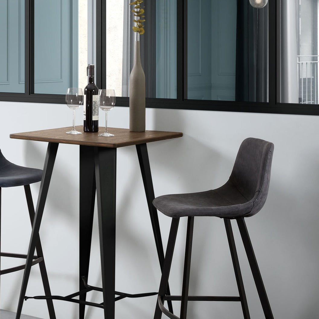 George Barstool in Black Synthetic Leather