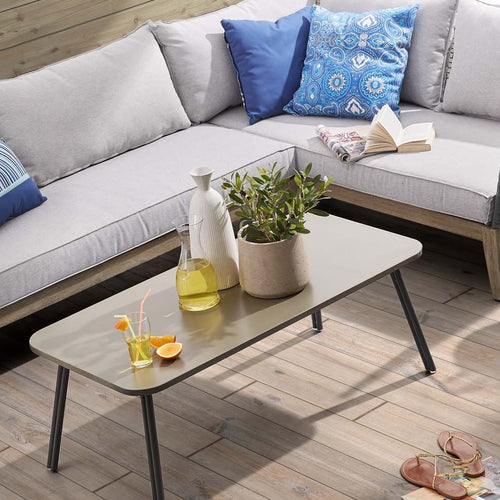 Brenen Coffee Table with Poly-Cement Top