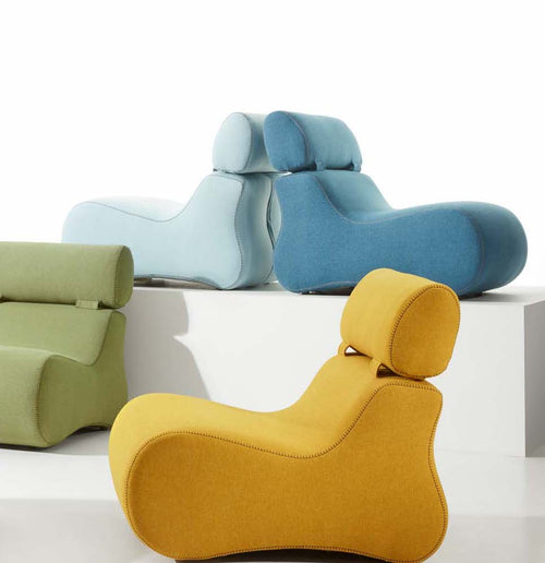 Cocoon Armchair in Mustard Fabric