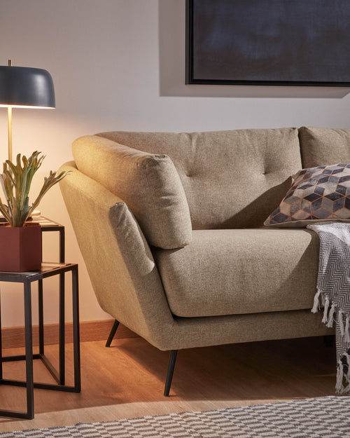 Samaya 3 Seat Sofa in Brown