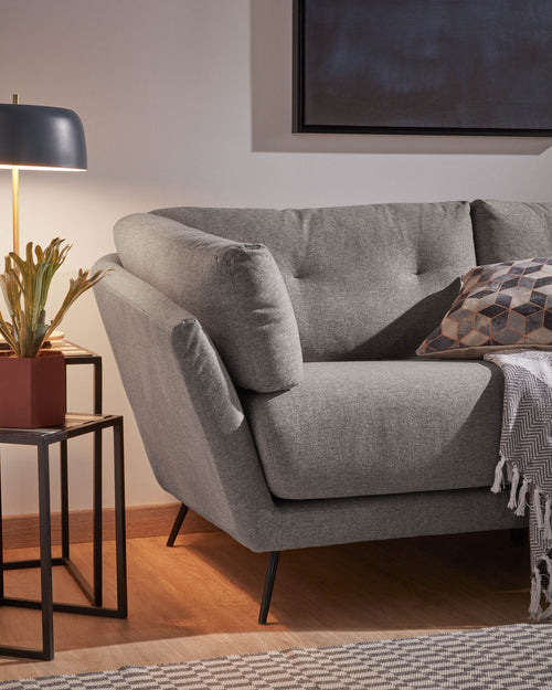 Samaya 3 Seat Sofa in Dark Grey
