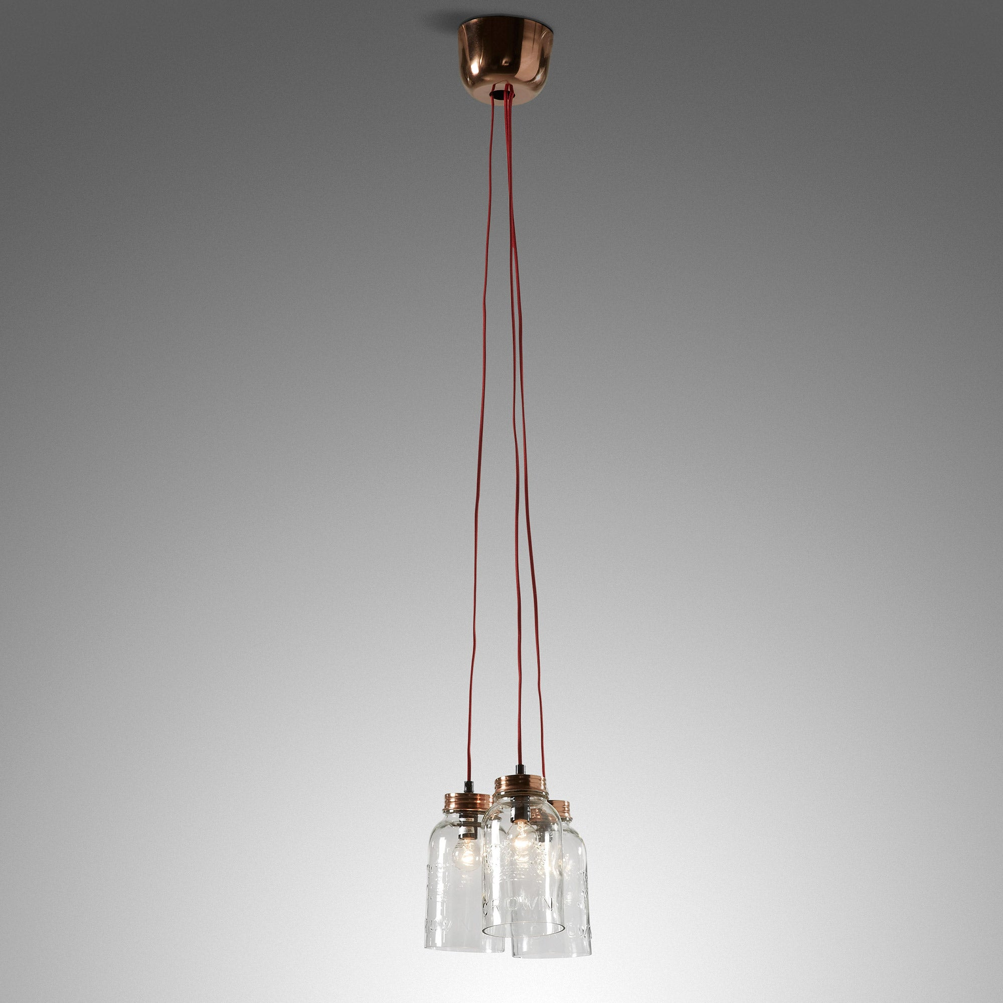 Kalen Pendant Light Copper and Glass