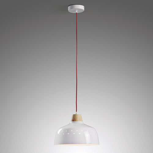 Mollie Pendant Light - Metal White, Lighting - Home-Buy Interiors