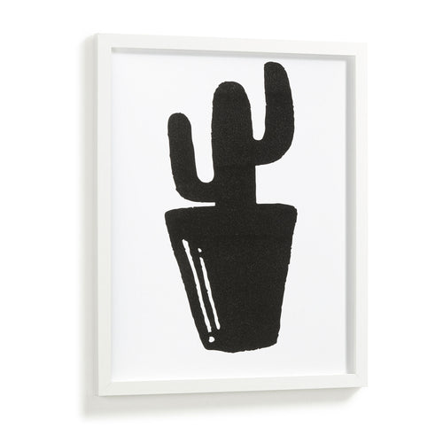 Rinnie Art Print - Cactus Silhouette 43 x 53 cm, Print - Home-Buy Interiors