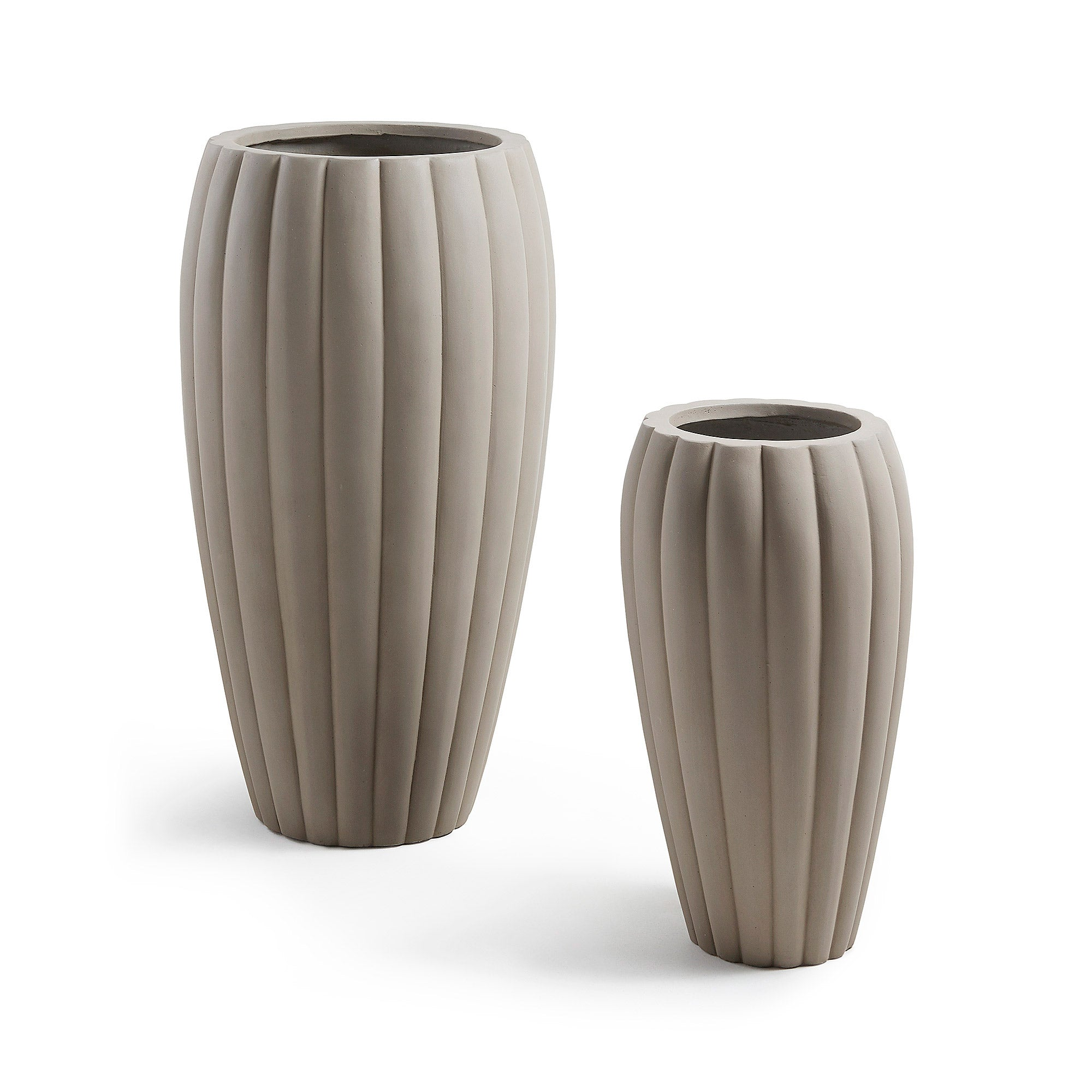 Linn Set 2 Vases Cement Light Grey, Vase - Home-Buy Interiors