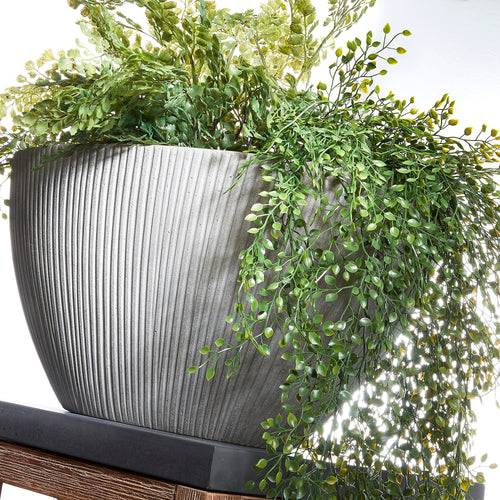 Lis Set of 2 Planters Cement Grey