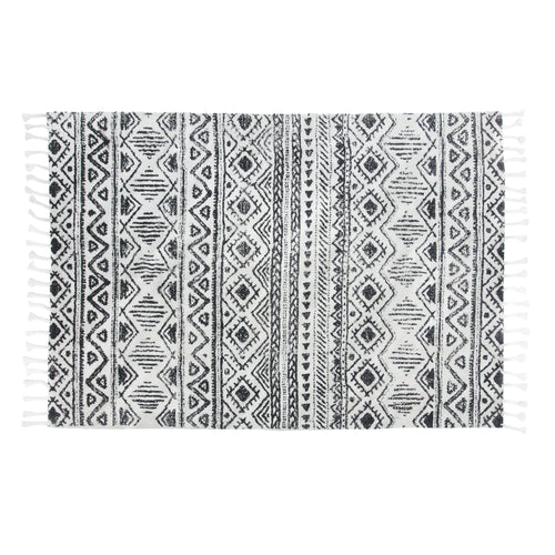 Chen Rug - Hand Woven Cotton with Geometrical Pattern, Rug - Home-Buy Interiors