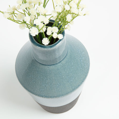 Booke Vase - Ceramic Light Blue 23cm High, Vase - Home-Buy Interiors