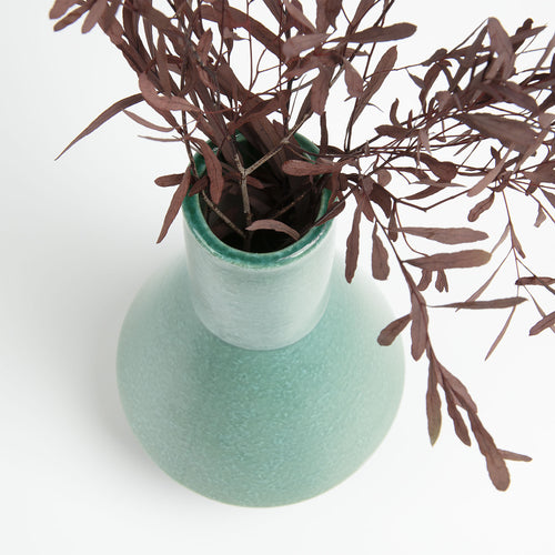 Booke Vase - Ceramic Light Green 28cm High, Vase - Home-Buy Interiors