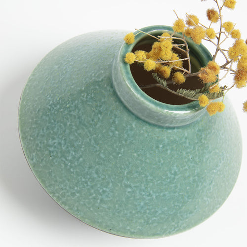 Booke Vase - Ceramic Light Green 11cm High, Vase - Home-Buy Interiors