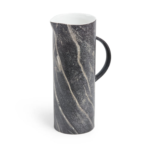 Alex Vase - Ceramic with a Black Marble Finish Stands 27cm High, Vase - Home-Buy Interiors