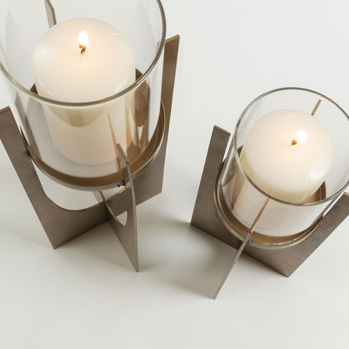Alana Set of 2 Gold Candle Holders