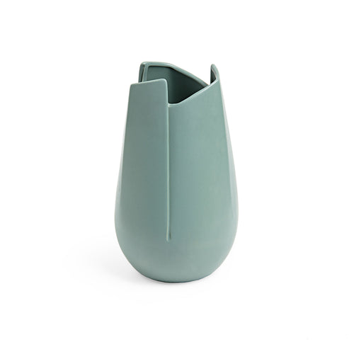Ellie Vase - Ceramic Vase with Dark Green Finish 21cm Tall, Vase - Home-Buy Interiors