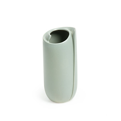 Sadie Vase - Ceramic Vase with Light Green Finish 21cm Tall, Vase - Home-Buy Interiors