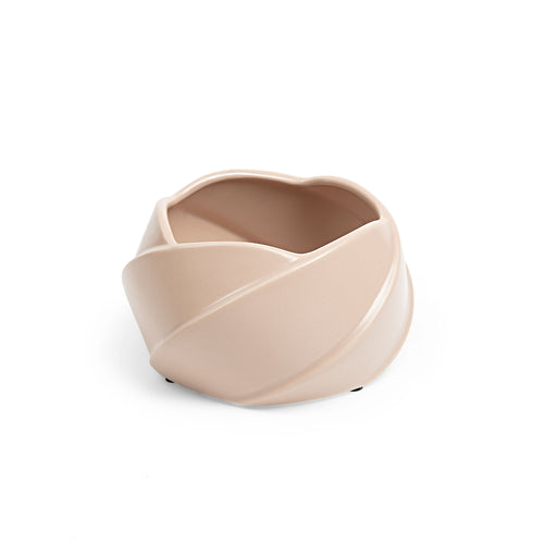 Shaylee Planters - Ceramic Planter in a Matt Blush Finish - Home-Buy Interiors
