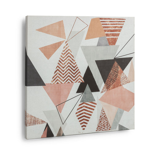 Ken Printed Canvas - Geometric Shapes with Multicolours 50 x 50 cm, Canvas - Home-Buy Interiors