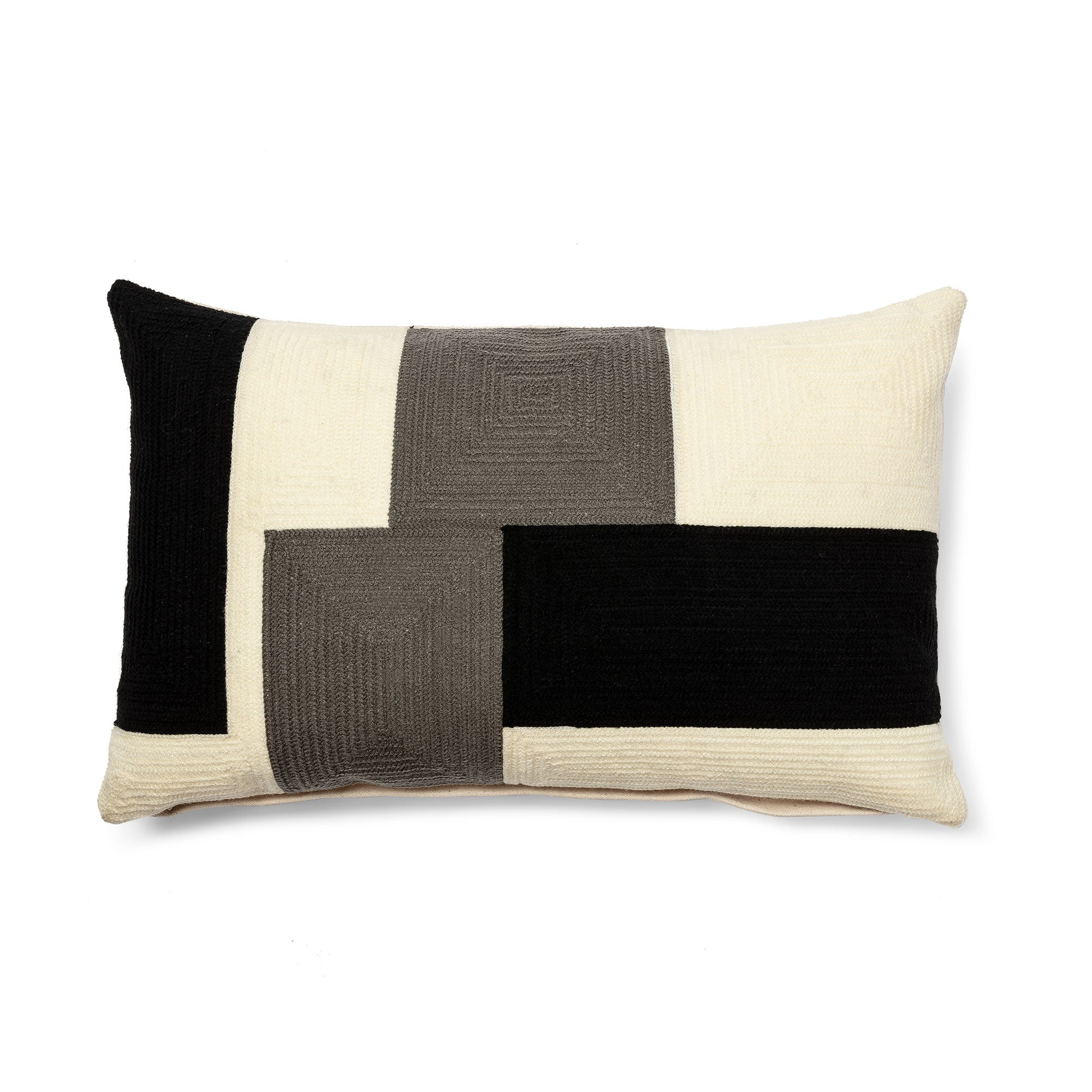 Knowles Cushion - Multicoloured with Zipper 30 x 50cm, Cushion - Home-Buy Interiors