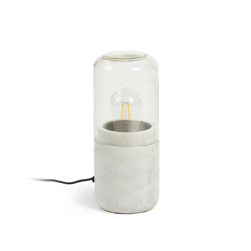 Bloom White Marble Table Lamp