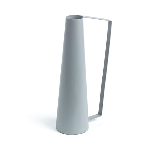 Billy Vase - Metal Handle with Spray-Painted Grey Finish - Home-Buy Interiors