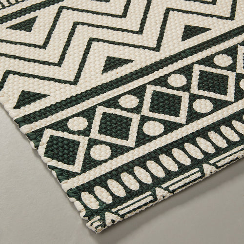 Miley Rug - Green and White Print 60 x 110 cm, Rug - Home-Buy Interiors