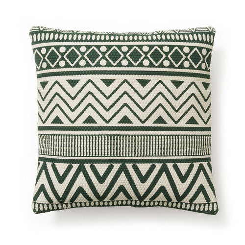Cecil Cushion - Beige & Green Print 45 x 45 cm - Home-Buy Interiors