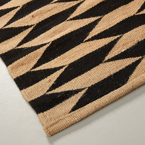 Amor Rug - Black & Carmel Colour Geometric Print 160 cm x 230 cm, Rug - Home-Buy Interiors