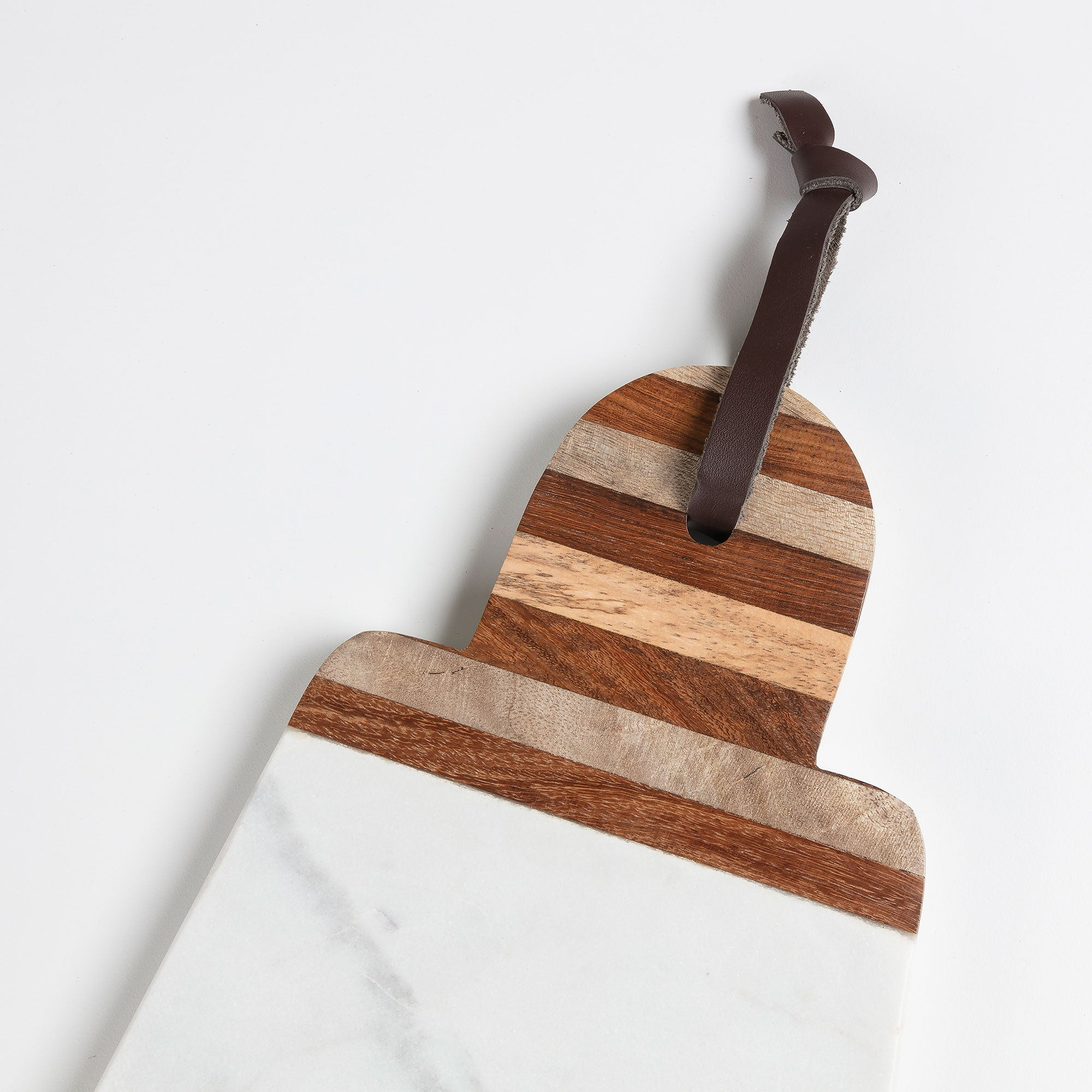Bryn Chopping board wood marble white