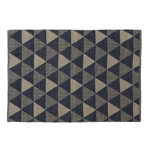 Pearson Rug - Two-tone Dark Blue and Brown Diamond Pattern 130 x 190 cm, Rug - Home-Buy Interiors