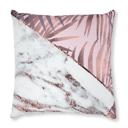 Angel Cushion  - Pink Tropical and Marble Print 45 x 45 cm, Cushion - Home-Buy Interiors