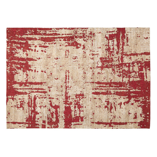 Astrid Rug - Stamped with Beige Base and Pink Highlights 160 x 230 cm, Rug - Home-Buy Interiors